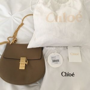 Chloe Drew medium chestnut cream, shoulder bag
